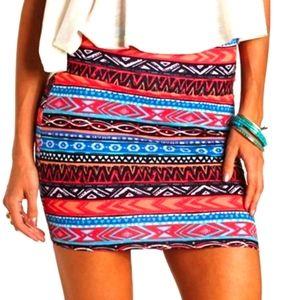 Charlotte Russe size small mini asymmetrical skirt